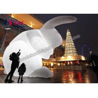 Quality White lighting Inflatable Rabbit  Inflatable Cartoon Characters With LED Blower wholesale