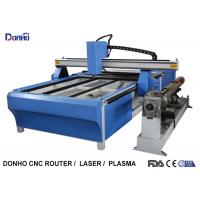 Quality Blue CNC Plasma Metal Cutting Machine / Industrial Plasma Cutter With Rotary Axis wholesale