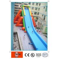 Quality 0.55mm PVC tarpaulin long blow up water slides for adults exciting water games wholesale