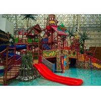 Quality Adults Aqua Water Playground Equipment , Big Water House Maya Style Theme Park Slide wholesale