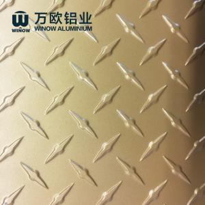 Quality Embossed Diamond Plate Panels , Aluminium Checker Plate 1-6 Mm Thickness wholesale