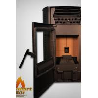 Quality High Efficiency Pellet Stove , Small Wood Pellet Stove With LED Control Panel wholesale