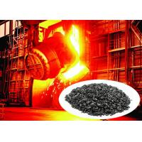 China Black High Hardness Graphite Recarburizer For Steel And Iron Plant Using on sale