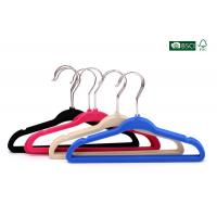Quality Betterall Wholesale Colorful Low-price Velvet Hanger with Skid-proof Shoulder wholesale