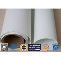 Quality White PU Coated / Silicone Coated Fiberglass Fabric  For Welding Spark Protection wholesale