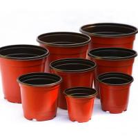 Cheap Double Color Plastic Flower Pot for sale