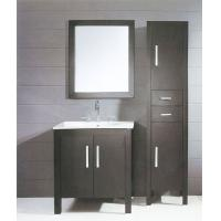 Cheap 80 X 48 X 85 / cm dark grey Ceramic Bathroom Vanity freestanding square type for sale