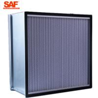 Quality Cleanroom Deap Pleated Hepa Filter , 0.3 Micron Hepa Filter With Paper Foil Separater wholesale