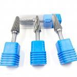 Quality 6.35 Shank Carbide Rotary Tool Bits / Safe Carbide Die Grinder Bit Set wholesale
