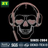 Quality High Color Accuracy Hot Fix Rhinestone Motif With Glass / Aluminum Material wholesale