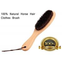 Quality Soft Horse Hair Shoe Brush With Handle For Dust Pet Hair Static wholesale