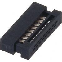 Quality 1.27mm 16 Pin Idc socket  Connector PBT black  30%GF UL94V-0  ROHS wholesale
