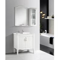 Cheap 2 Doors Ceramic Bathroom Vanity mirrored stainless steel with Soft Closing for sale