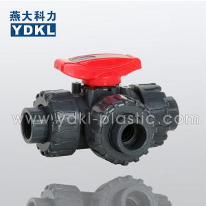 Quality Pvc 3 way ball valve 3/4 wholesale