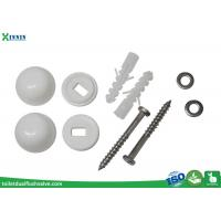 Quality Stainless Steel Toilet Closet Bolts Cross Headed With PP Decoration Cap wholesale
