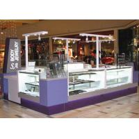 Quality Easy Install Jewelry Showcase Kiosk Attractive Purple Color Coating Wooden Material wholesale