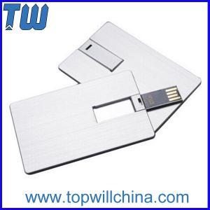 China Twister Metal Card USB Thumb Drives High Quality Digital Printing on sale