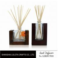 Quality Wooden Bottom Based Aroma Reed Diffuser , Home Scent Reed Diffuser Certificate wholesale
