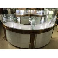 Buy cheap High End Stainless Steel Gold Jewellery Showroom Display With Led Light from wholesalers