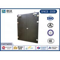 China Double Opening 90 Minute Fire Rated Doors , Black 1.5 Hr Fire Rated Door on sale