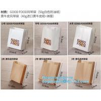China fried chicken hamburger fast food packaging wrapped bag plastic paper wholesale disposable custom printing,Deli food pac on sale