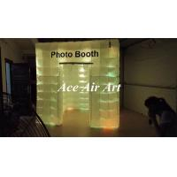 Quality classical booth supplier,sell portable cube inflatable photo booth with led lights for wedding wholesale