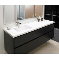 Quality Matt lacquer bathroom cabinet,MDF vanity cabinet,double drawer bathroom cabinet wholesale