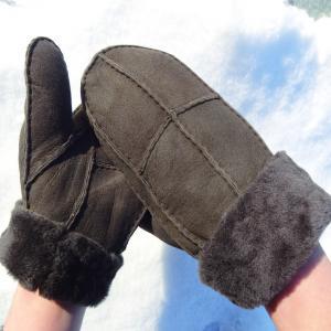 China Manufacture customized lamb fur women men mitten lining shearling sheepskin mitten glove on sale