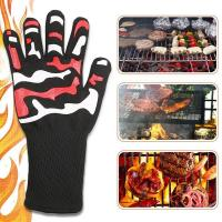 Quality 932F Heat Resistant Oven Gloves High Temperature 100% White Cotton Lining wholesale