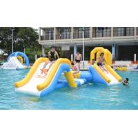 Cheap 0.9mm PVC Tarpaulin Fabric Inflatable Floating Water Park For 18m*6m Pool for sale