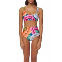 Buy cheap High Waisted Floral Printing Womens Swimming Suits Tie Knot  2 Pcs Sets Swimwear from wholesalers