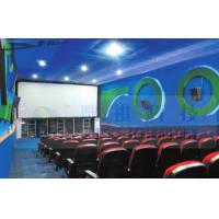 Quality 4D Cinema Equipment Electric Pneumatic 3 Seat / 4 Seat Motion Chairs Leather wholesale