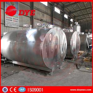 Quality 500-10000L Milk Cooler Tank Refrigerated Milk Tank Semi - Automatic wholesale