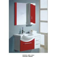 Quality wall mount cabinet / PVC bathroom vanity / hung cabinet / wine red color for bathroom 70 X45/cm wholesale