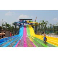 Quality Adult Water Park Equipment / Outdoor Playground Water Slide Customized Size wholesale