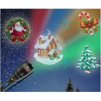 Quality Christmas Indoor Super Bright LED Flashlight , Handheld Projector Black Blue wholesale
