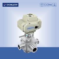 Electric actuator three-way ball valve with T type and full port