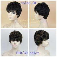 China Capless Short synthetic wigs for black women 2colors black color and ombre color 2073 on sale