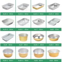 China Microwave Disposable Aluminum Foil Pizza Baking Tray Pans container Sizes,pan box trays takeaway Container,kitchen and B on sale
