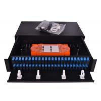 Quality Slim 1U Fiber Optic Patch Panel 96 Cores Sliding Open SC Type For LAN / WAN wholesale