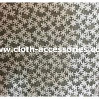 Quality Applique All Over Bridal Tulle Lace Fabric Trimmings With Snow Flower wholesale