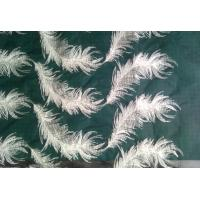 Quality White feather organza pattern embroidered Cotton Lace Fabric For apparel wholesale
