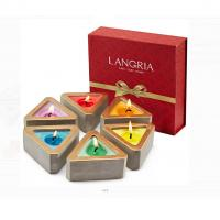 Buy cheap Colored Scented Jar Candle With Packaging Boxes Home Decoration Customized Logo from wholesalers