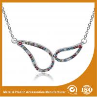 Quality Plating Embossing Silver Glass Chain Necklace For Promotion Gift wholesale