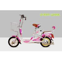 China Mini Cool Pedal Assist Electric Bike 350W 48V Pink White Fashion Throttle System on sale