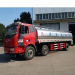 Quality 15001 - 30000L Fresh Milk Tanker Truck , FAW 15.3m3 304 Stainless Steel 6*4 Transport Truck wholesale