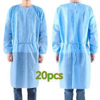 Quality Antibacterial Disposable Non Woven Gown , Disposable Medical Workwear wholesale