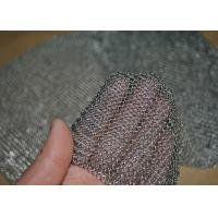 Quality 304L Stainless Steel Welded Rings Chainmail Mesh Fabric For Decoration And Protection wholesale