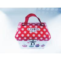 Quality Red Floral  lunch tin box with key 20131114 wholesale