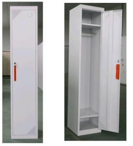 Staff employee use white grey color steel locker with lock